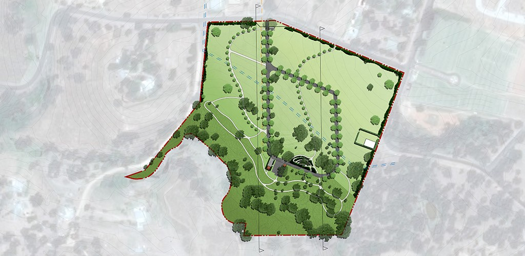 Young cemetery masterplan