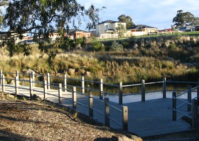 Thomastown East Reserve, wetland retrofit