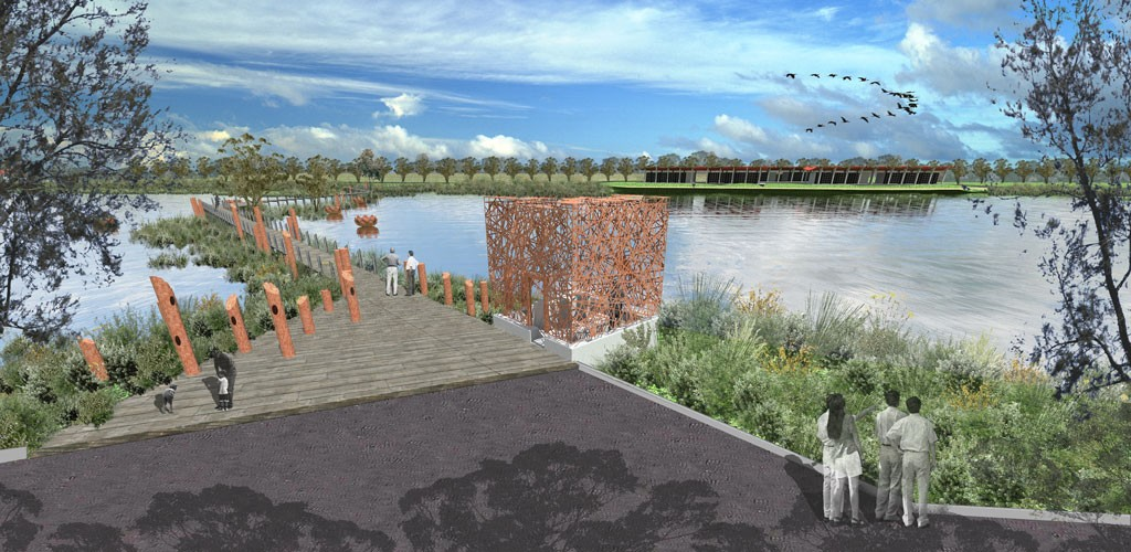 Springvale WSUD project- water view