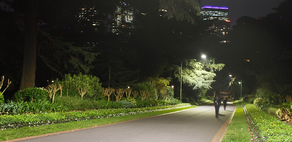 park in Melbourne lighting recreation project