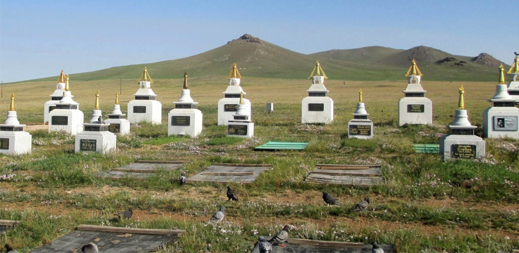 East West cemetery in Mongolia