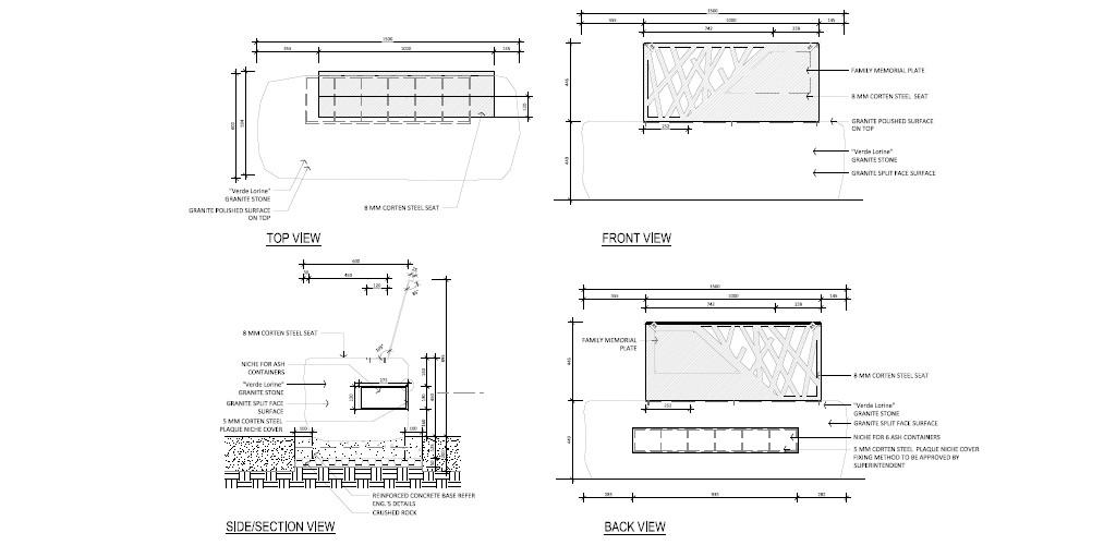 Mona Vale cemetery plan