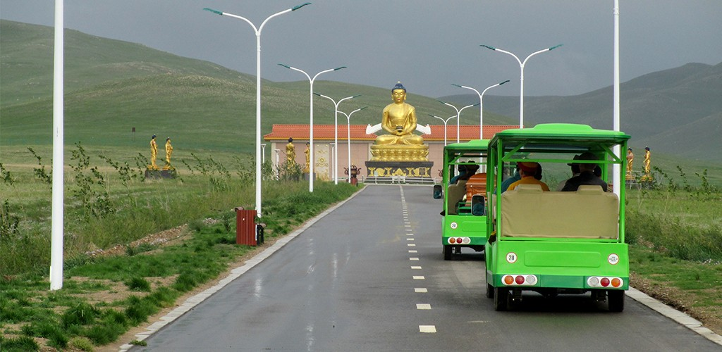 Budha in East West cemetery in Mongolia