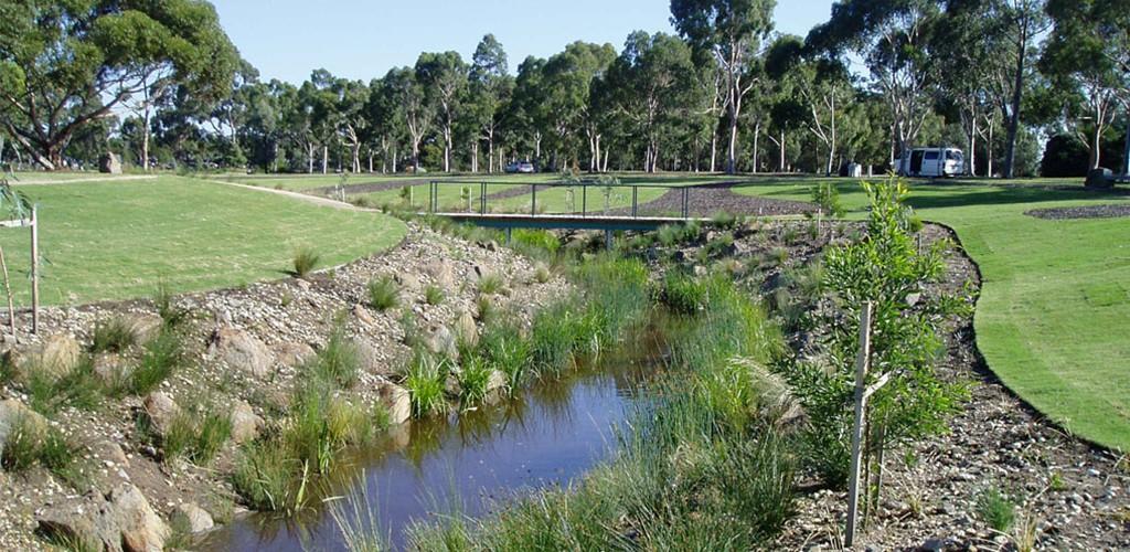 Edendale memorial park river view