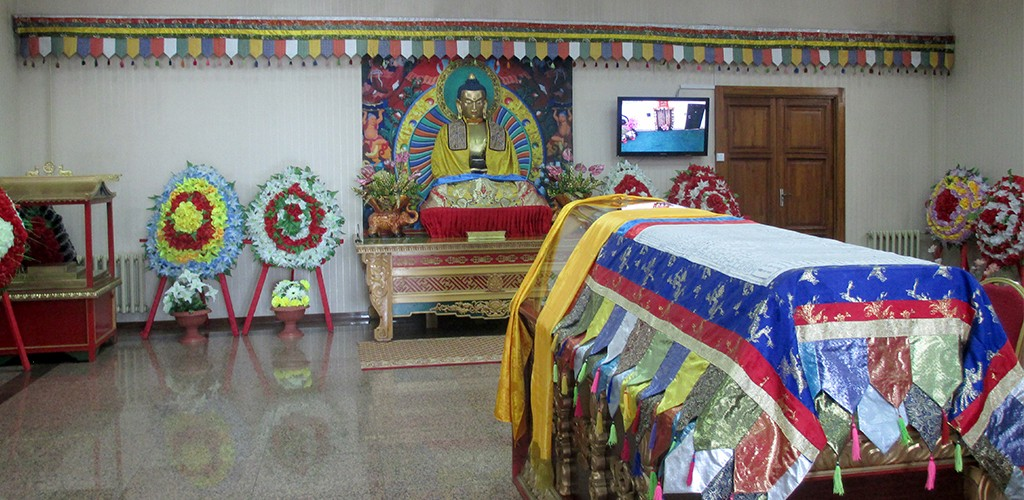 Indoor view of East West cemetery in Mongolia