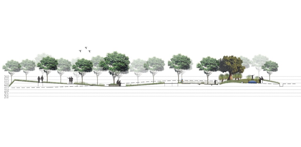 Children section in cemetery tree layout plan