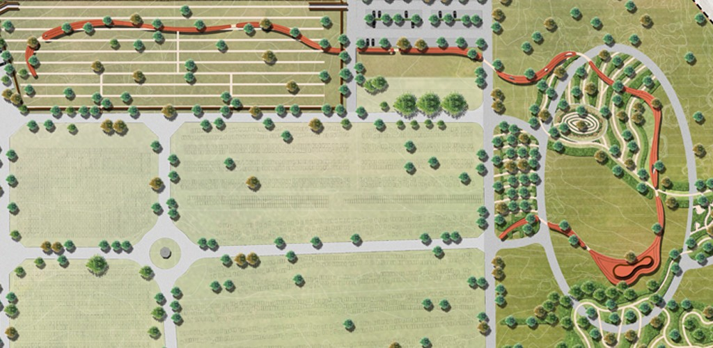 Top view cemetery plan